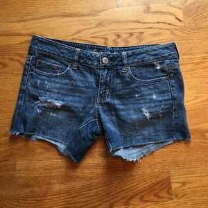 American eagle shorts size 6 with distressing.